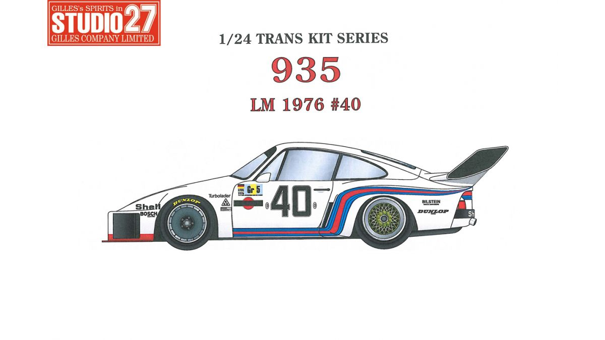 Porsche 935 Martini 40 Le Mans 1976 Transkit