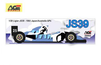 Ligier JS39 Renault Japan / Australian Grand Prix 1993 1/20  - ACE - ACE-20002