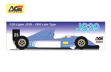 Ligier JS39 Renault Late Version 1993 1/20  - ACE - ACE-20003