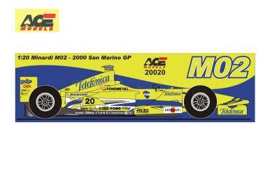 Minardi M02 San Marino Grand Prix 2000 1/20 - ACE Models - ACE-20020