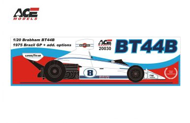 Brabham BT44B Brazil Grand Prix 1975 1/20 - ACE Models - ACE-20030
