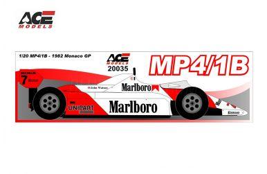 McLaren MP4/1B Monaco Grand Prix 1982 1/20 - ACE Models - ACE-20035