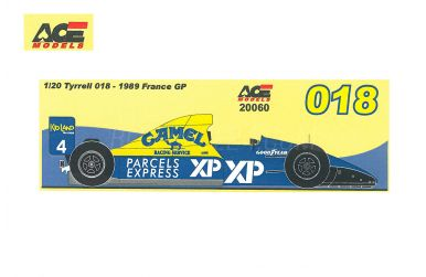 Tyrrell 018 French GP 1989 1/20 - Studio27 - ST27-FK20243