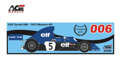 Tyrrell 006 Monaco Grand Prix 1973 1/20 - ACE Models - ACE-20008