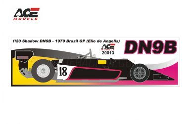 Shadow DN9B Brazil Grand Prix 1979 1/20 - ACE Models - ACE-20013