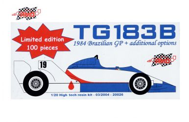 Toleman TG183B Brazilian Grand Prix 1984 1/20 - AMD - AMD-20026