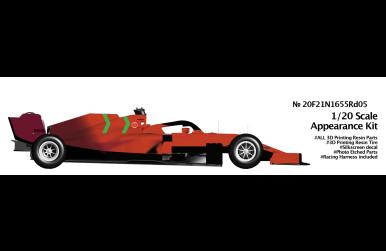 Ferrari SF21 Monaco Grand Prix 2021 1/20 - CtoB/NewScratch - NS-20F21N1655RD05