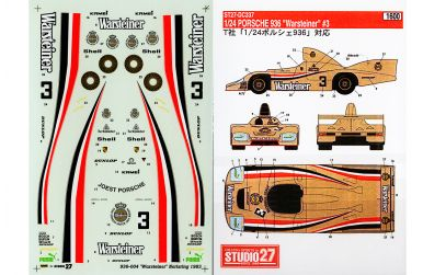 Porsche 936/78 Essex - Le Mans 1979 #12 #14 1/24 - Decals