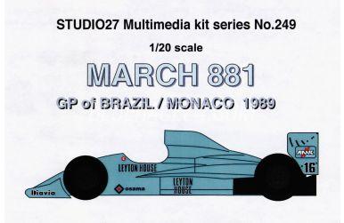 March 881 GP of Brazil / Monaco 1989