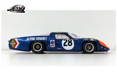 Alpine A220 - Le Mans Miniatures - LMM-124085 - Ansicht von der Seite