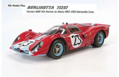 Ferrari 412 P Maranello Concessionaires Le Mans 1967 1/12 - MG Model Plus - MGP-MP-112.51