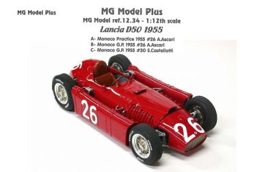 Lancia D50 Monaco Grand Prix 1955 1/12 - MG Model Plus - MP-12.34