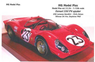 Ferrari 330 P4 #23 Daytona 1967 - MG Model Plus - MGP-MP12.24