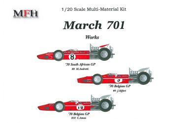 March 701 South African GP / Belgian GP 1970 1/20 - Model Factory Hiro - MFH-K228
