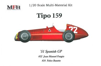 Alfa Romeo Tipo 159 Spanish GP 1951 1/20 - Model Factory Hiro - MFH-K264