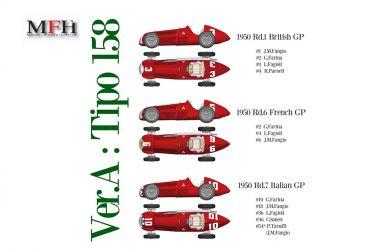 Alfa Romeo Tipo 158 British / French / Italian Grand Prix 1950 1/12 - Model Factory Hiro - MFH-K519
