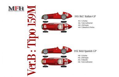 Alfa Romeo Tipo 159M Italian / Spanish Grand Prix 1951 1/12 - Model Factory Hiro - MFH-K520