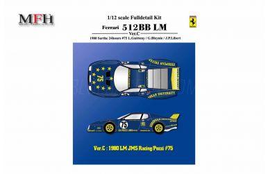 Ferrari 512BB LM N.A.R.T. #64 Le Mans 1979 1/12 - Model Factory Hiro - MFH-K532