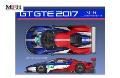 Ford GT GTE Le Mans 2017 1/12 - Model Factory Hiro - MFH-K619