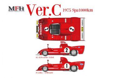 Alfa Romeo 33TT12 Ver. C 1000 km Spa 1975 1/12 - Model factory Hiro - MFH-K711