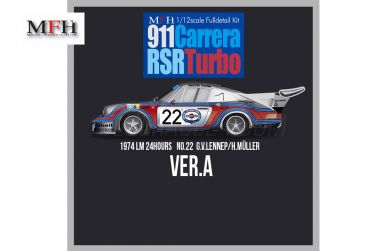 Porsche Carrera RSR Turbo Ver. A Le Mans 1974 1/12