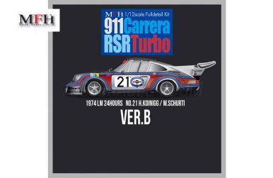 Porsche Carrera RSR Turbo Ver. B Le Mans 1974 1/12