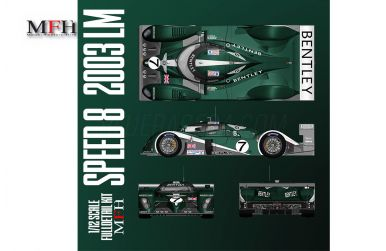 Bentley Speed 8 Le Mans 2002 1/12 - Model Factory Hiro - MFH-K739