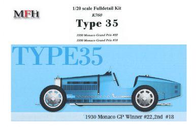 Bugatti Type 35 Monaco Grand Prix 1930 1/20 - Model Factory Hiro - MFH-K760