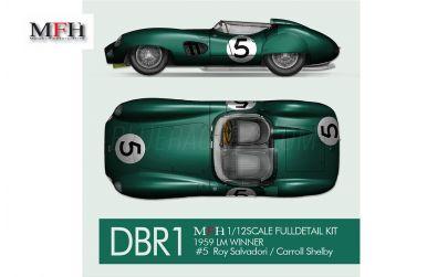 Aston Martin DBR1 Le Mans 24 Hours 1959 1/12 - Model Factory Hiro - MFH-K782