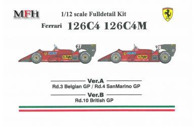 Ferrari 126C4 - Belgien GP San Marino GP 1984 #27 #27 - Model Factory Hiro - MFH-K469 Vers. A