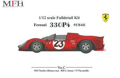 Ferrari 330P4 Spyder Le Mans 1967 #20 1/12 - Model Factory Hiro - MHF-K478