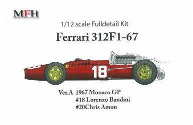 Ferrari 312F1-67 - Monaco GP 1967 #18 #20 - Model Factory Hiro - MFH-K479