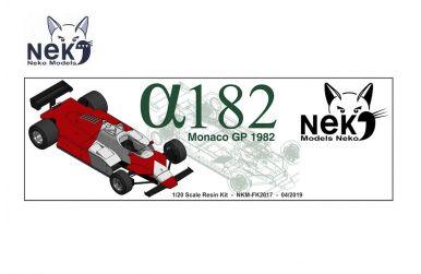 Alfa Romeo 182 Monaco GP 1982 1/20 - Models Neko - NEK-FK2017