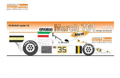 "March 761 ""Ovoro"" U.S.A West Grand Prix Long Beach 1976 1/20 - Models Orange House - ORA-1984"