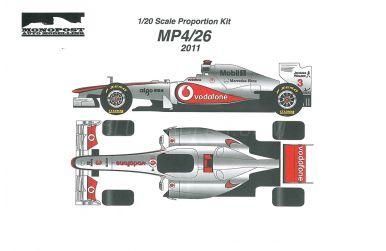 McLaren MP4/26 Formula One World Championship 2011 1/20 - Monopost - MP-013