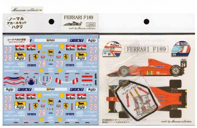 Ferrari F189 1989 Decal 1/20 - Museum Collection - MC-D046
