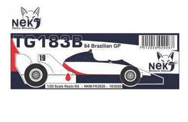 Toleman TG183B Brazilian GP 1984 1/20 - Neko Model - NEK-FK2026