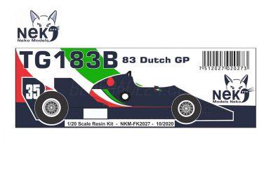 Toleman TG183B Dutch Grand Prix 1983 1/20 - Neko Model - NEK-FK2027