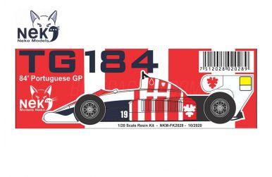 Toleman TG184 Portuguese Grand Prix 1984 1/20 - Neko Model - NEK-FK2028
