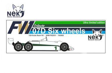 Williams FW07D 6-wheel test 1982 1/20. Neko Models - NEK-FK2018