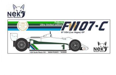 Williams FW07C U.S.A. (Las Vegas) Grand Prix 1981 1/20. Neko Models - NEK-FK2023