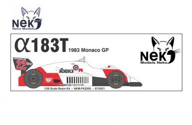 Alfa Romeo 183T Monaco Grand Prix 1983 1/20 - Neko Models - NEK-FK2030