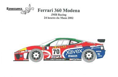Ferrari 360 Modena GT Racing Transkit 1/24 - Renaissance - REN-TK24/174