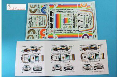 """Porsche 935 K3/80 """"Apple Computer"""" Sebring/Le Mans 1980 Decal 1/24 - Scale Coachwork - SCW-CK01SD"""