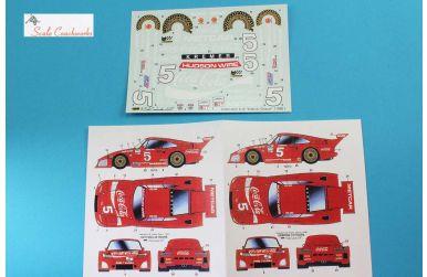"""Porsche 935 K3/80 """"Coca Cola"""" Daytona/Sebring 1981 Decal 1/24 - Scale Coachworks - SCW-CK02SD"""