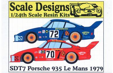 Porsche 935 Brumos Le Mans 1979 - Scale Designs - SDT7