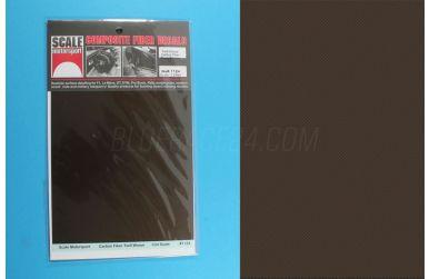 Carbon Fiber Twill Weave Black on Bronze 1/24