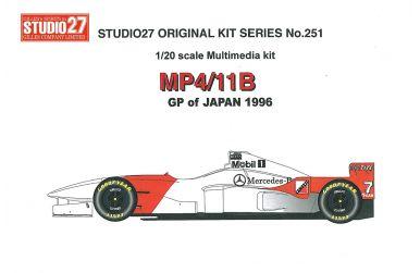 McLaren MP4/11B Monaco GP 1996 1/20 - Studio27 - ST27-FK20250