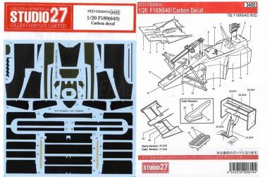 Ferrari F189 (640) Carbon Decal für Tamiya 1/20 - Studio27 - ST27-CD20016