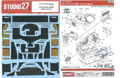 Sauber-Mercedes C9 Carbon Decals 1/24 - Studio 27 - ST27-CD24030